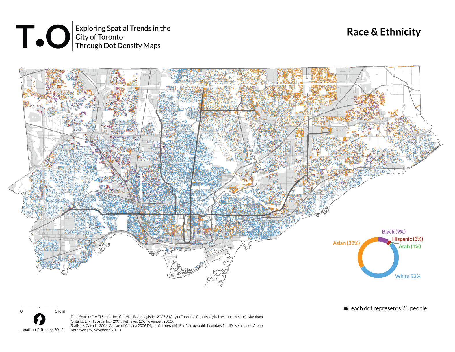Map Of Canada Toronto Ontario.Toronto Dot Density